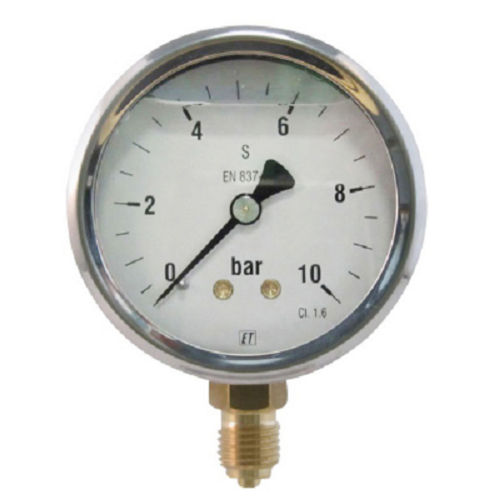Bosma-Controls manometer 63mm 10 bar